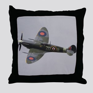 Spitfire Mk.IXb Throw Pillow